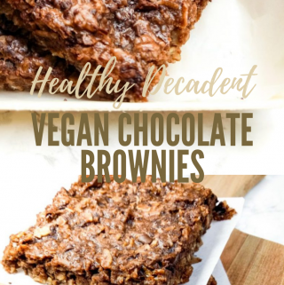 Healthy Decadent One-Bowl Chocolate Brownies (pin)