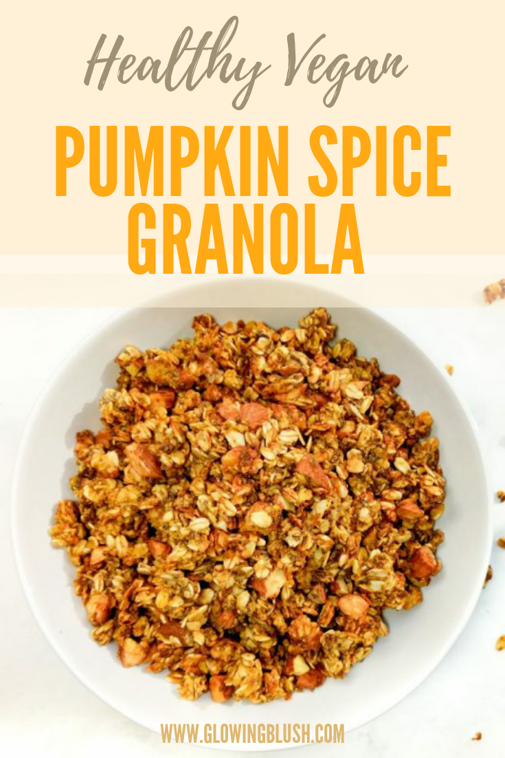 healthy pumpkin spice granola (pin)
