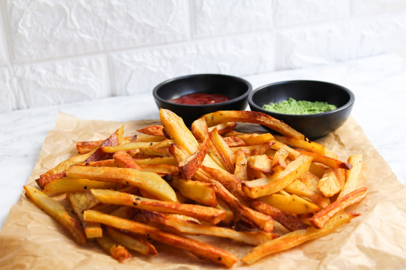 vegan crispy oven baked fries