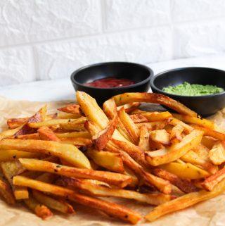 vegan crispy oven baked fries