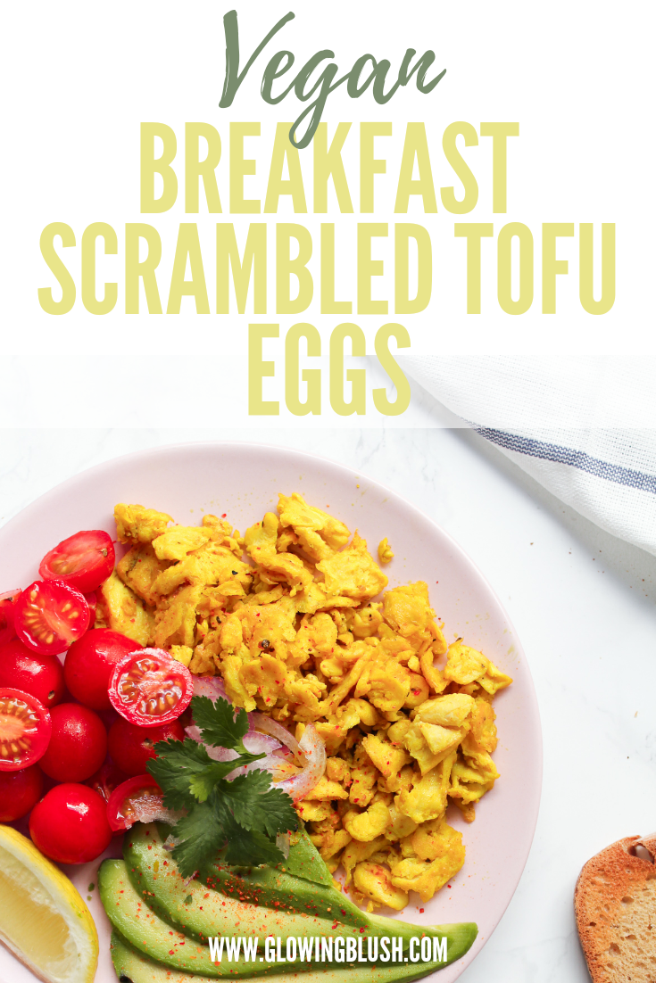 breakfast vegan scrambled tofu eggs pin