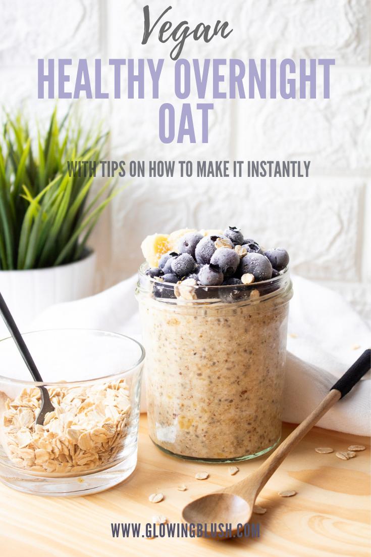 Healthy vegan overnight oat