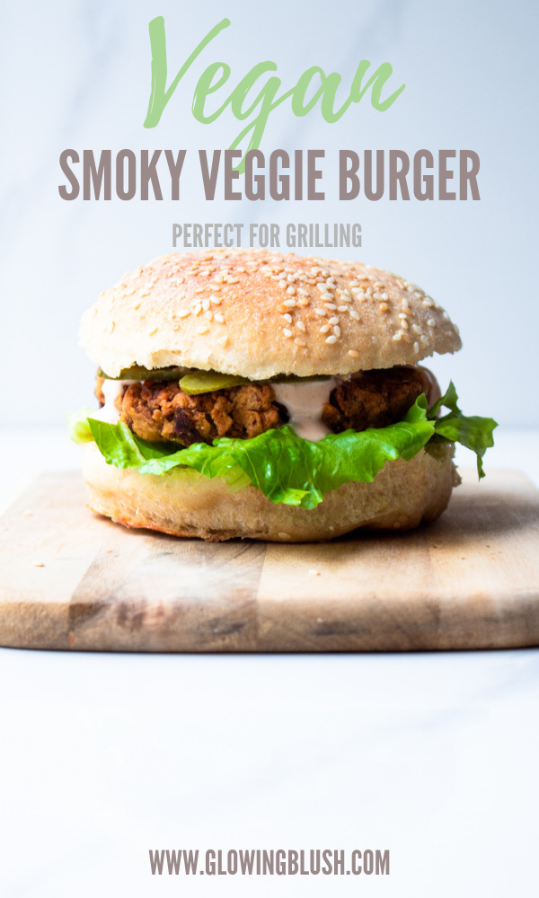 smoky veggie burger