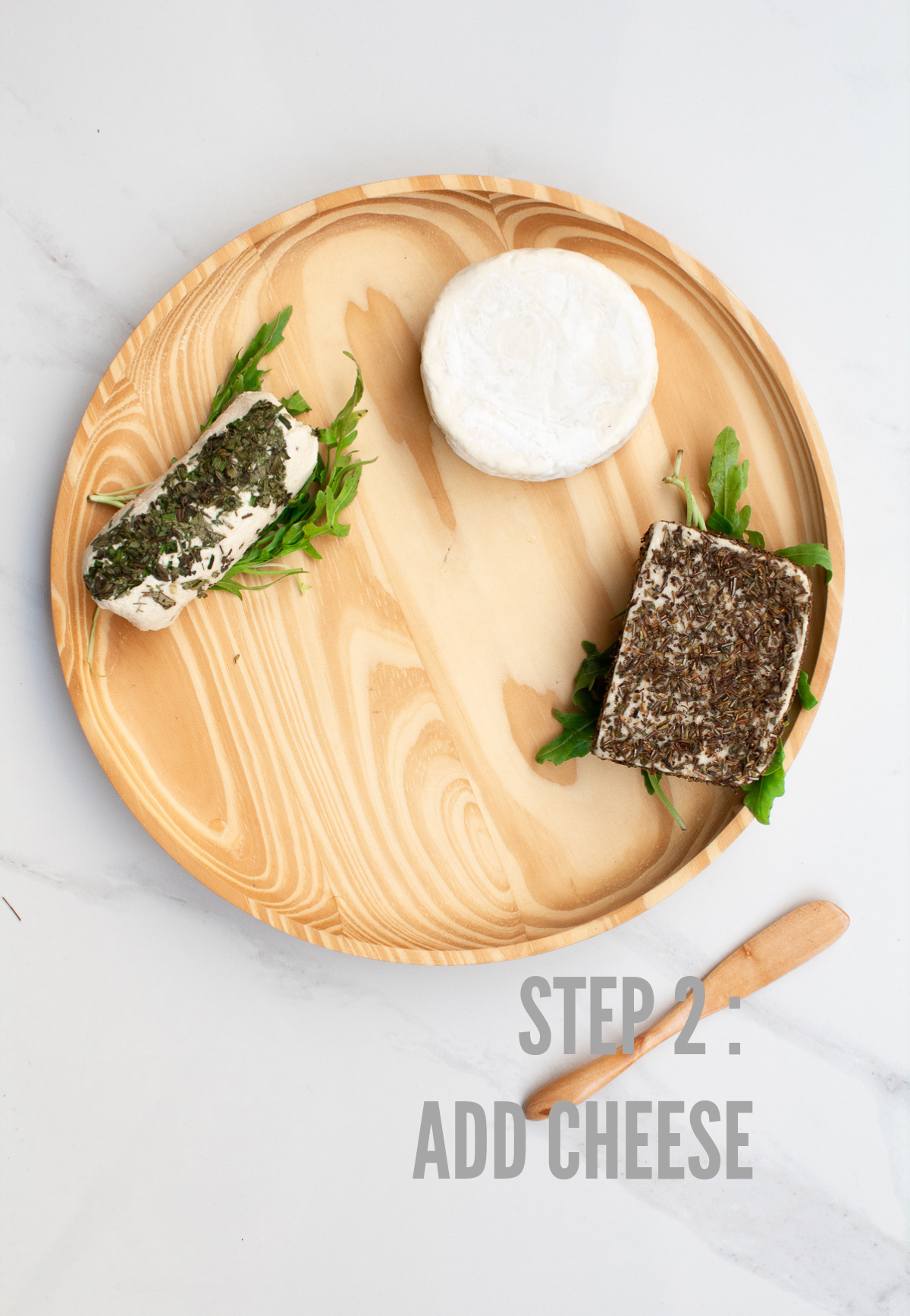 how to make a vegan cheese board step 2