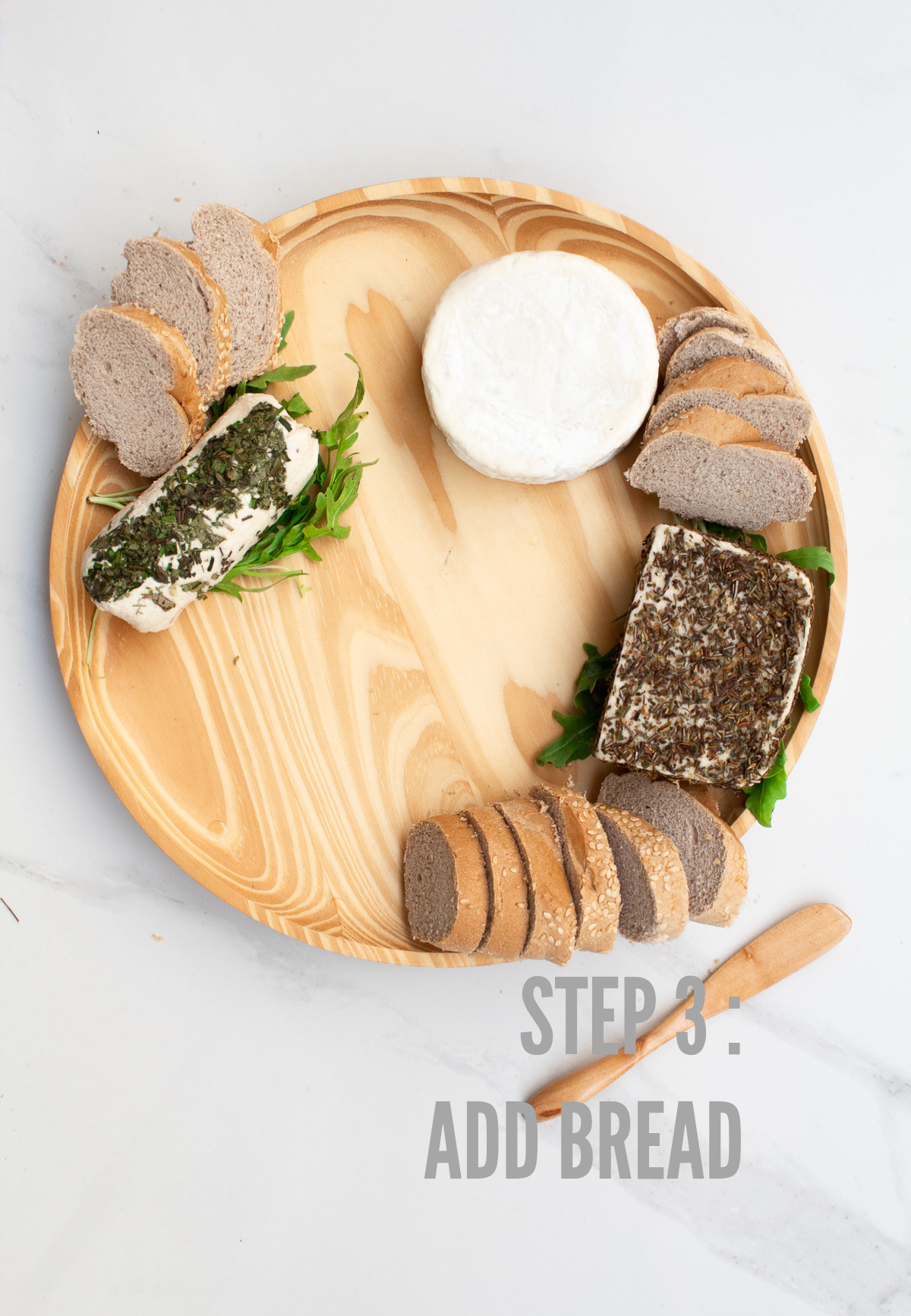 how to make a vegan cheese board step 3