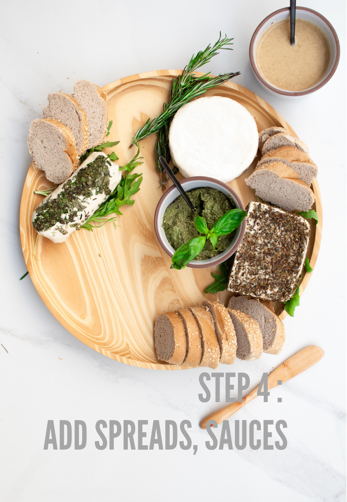how to make a vegan cheese board step 4