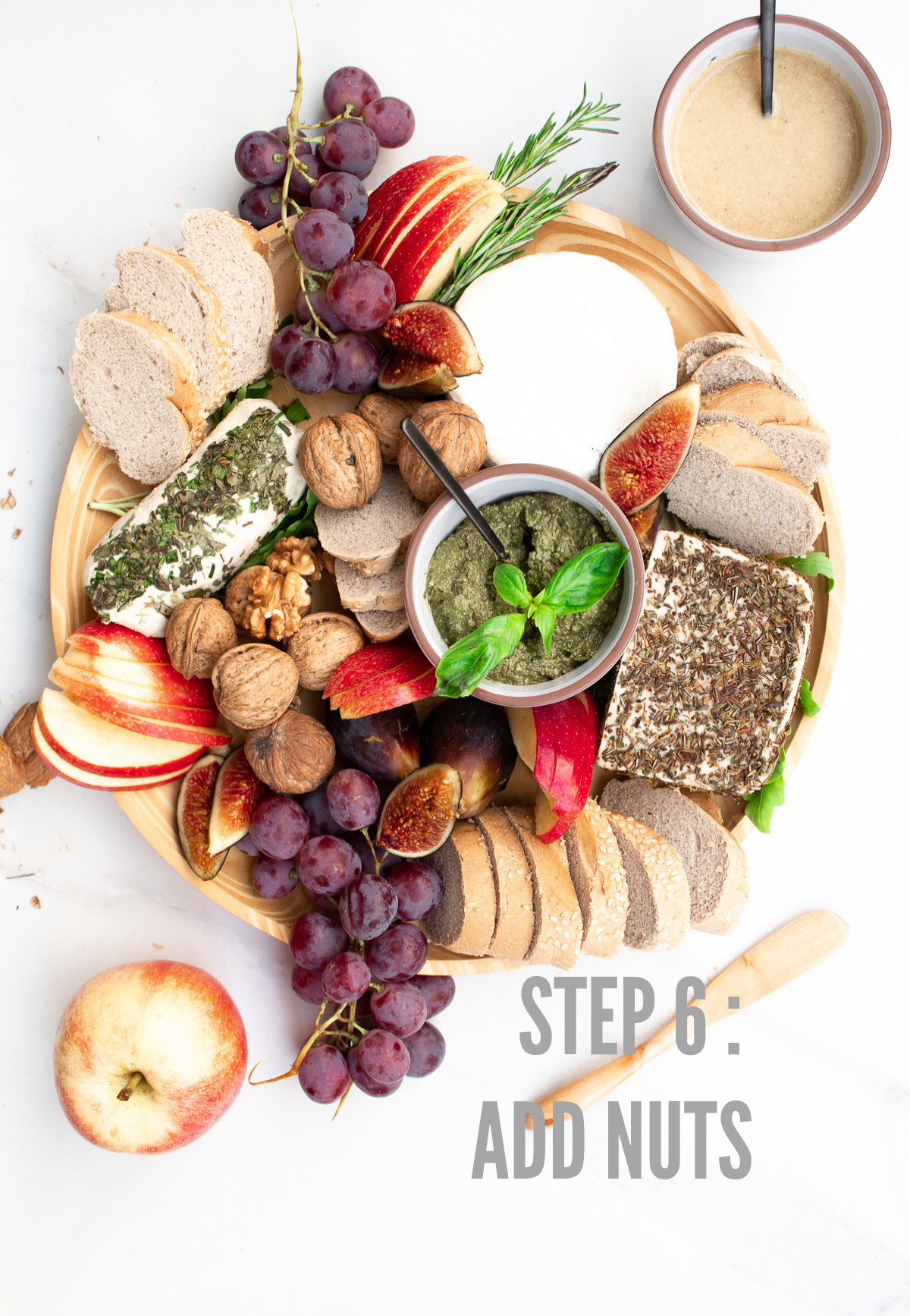 how to make a vegan cheese board step 6