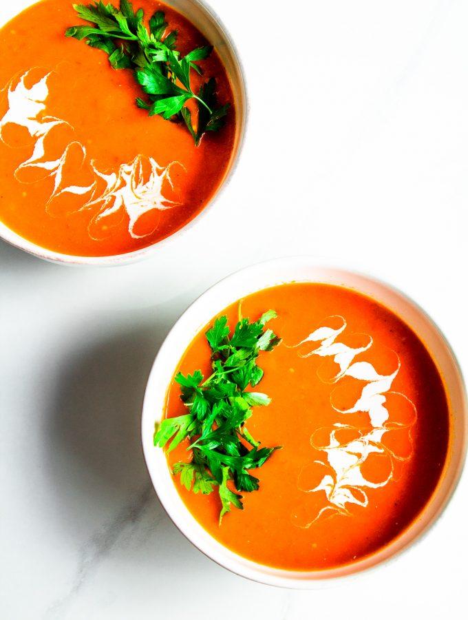 Creamy Tomato Bisque - Vegan - Nut-Free
