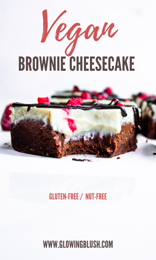 vegan brownie cheesecake