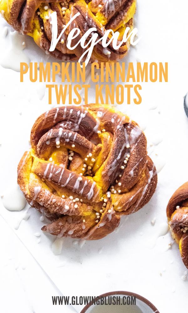 Pumpkin Cinnamon Twist Knots