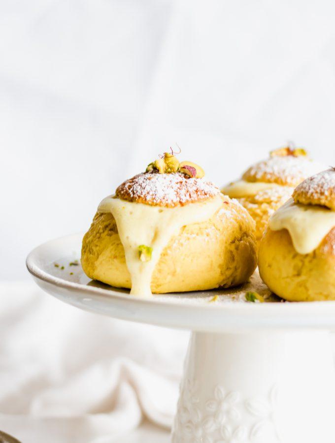 saffron cream buns