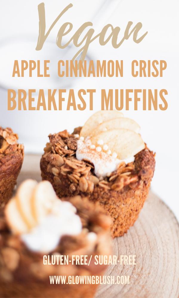 apple cinnamon crisp breakfast muffins