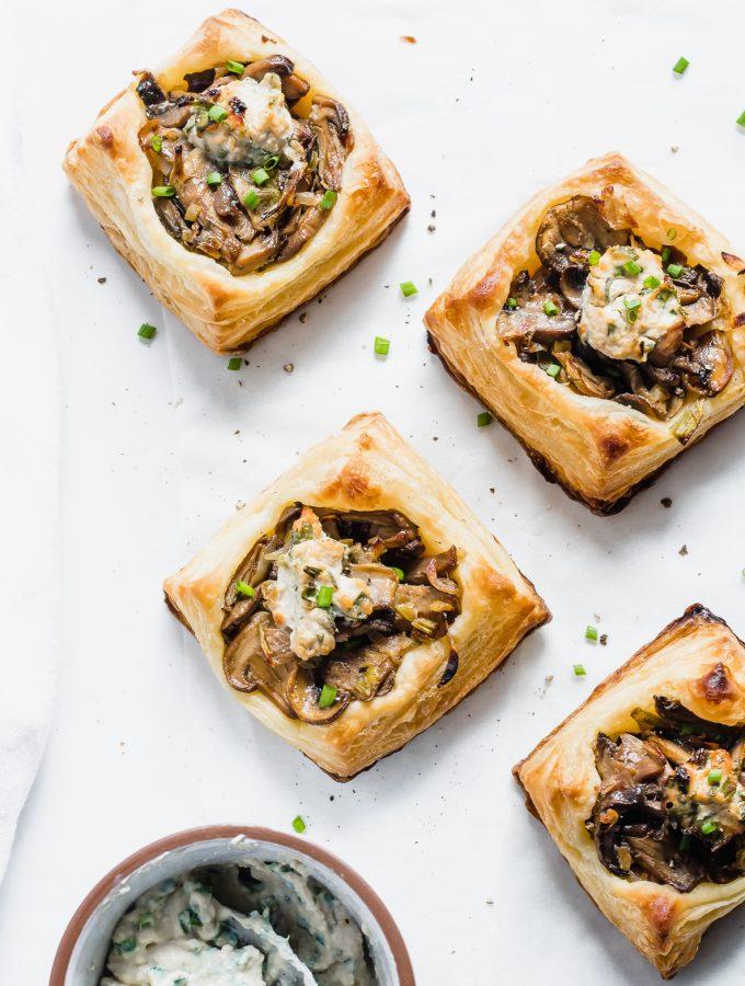vegan mushroom tarts