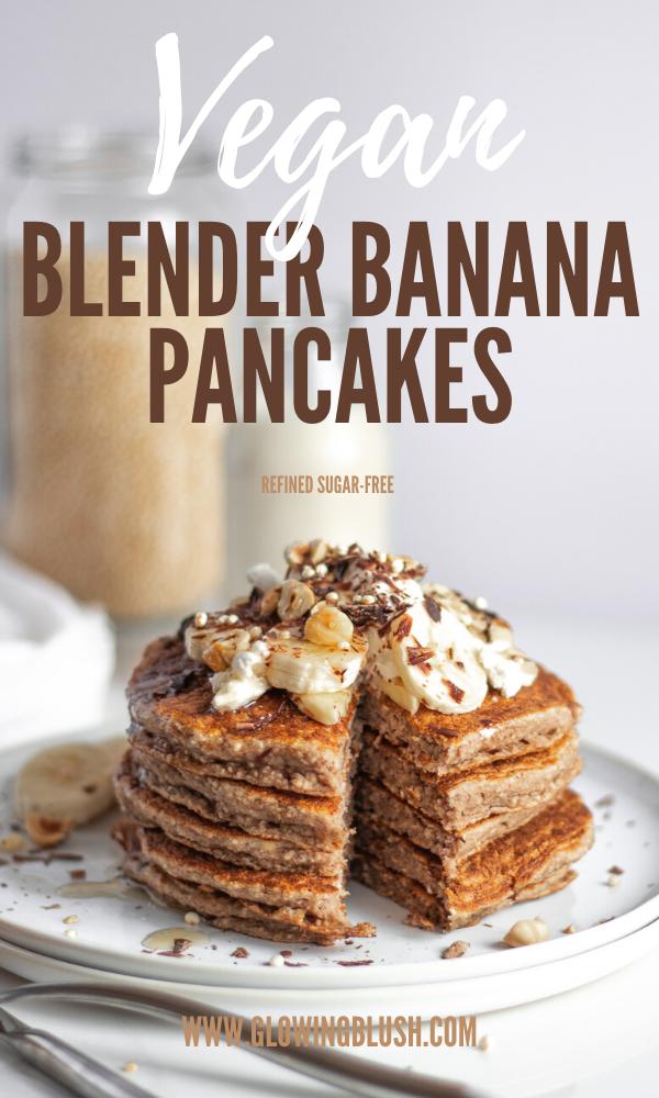 blender banana pancakes pin