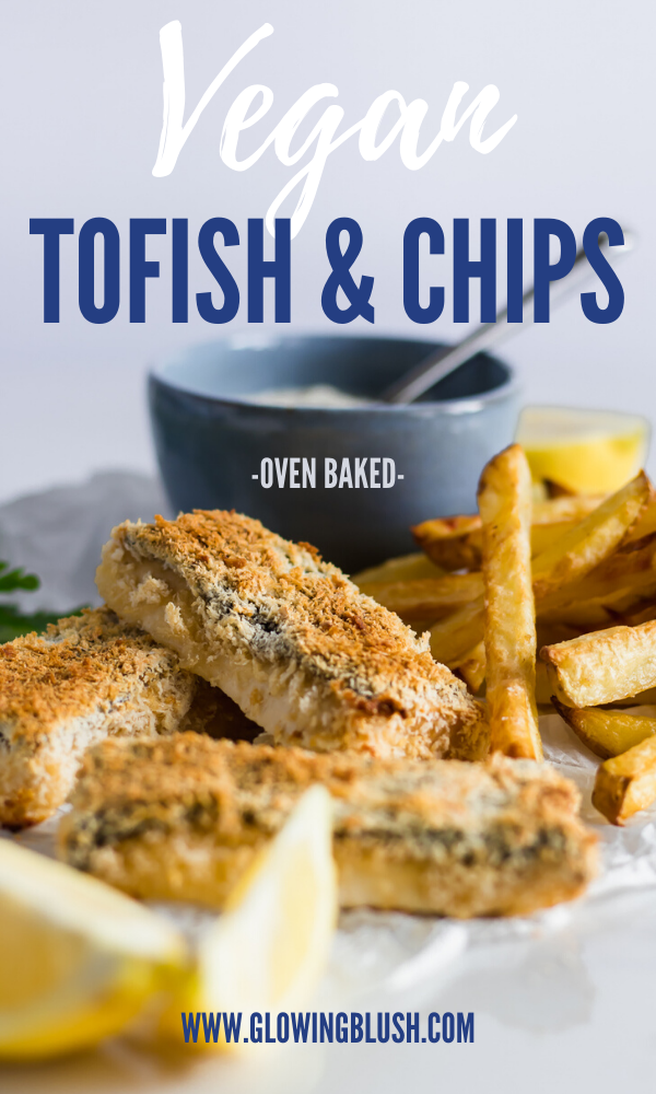baked tofish and chips pin