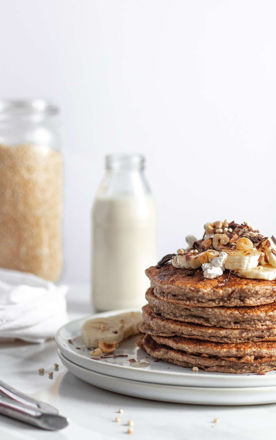 easy blender banana pancakes