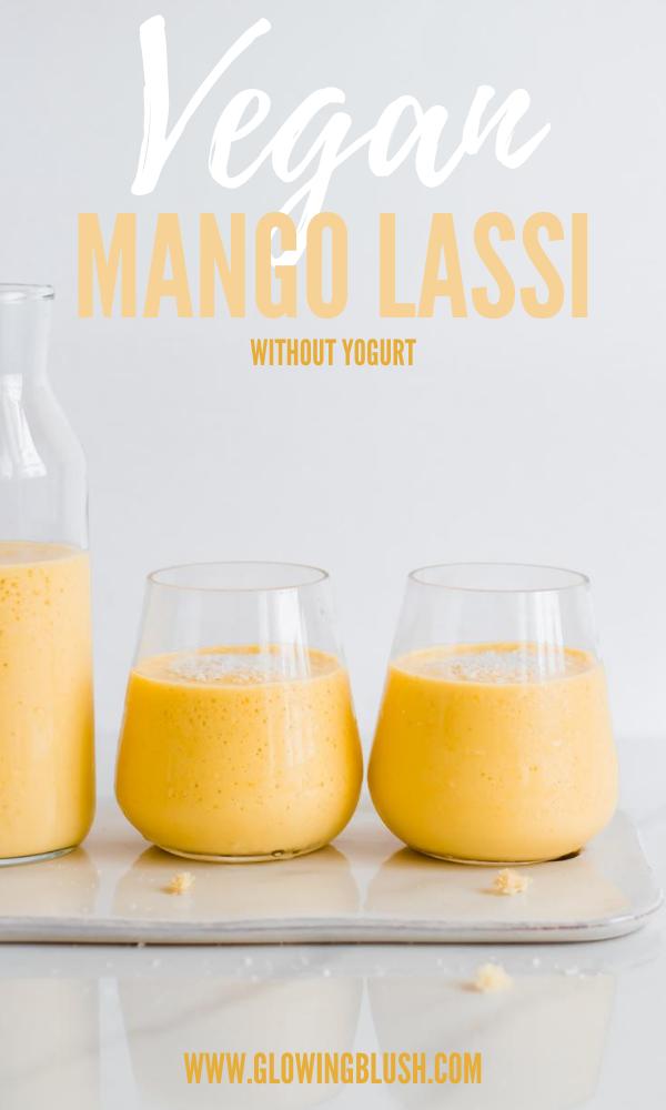 vegan mango smoothie - pin