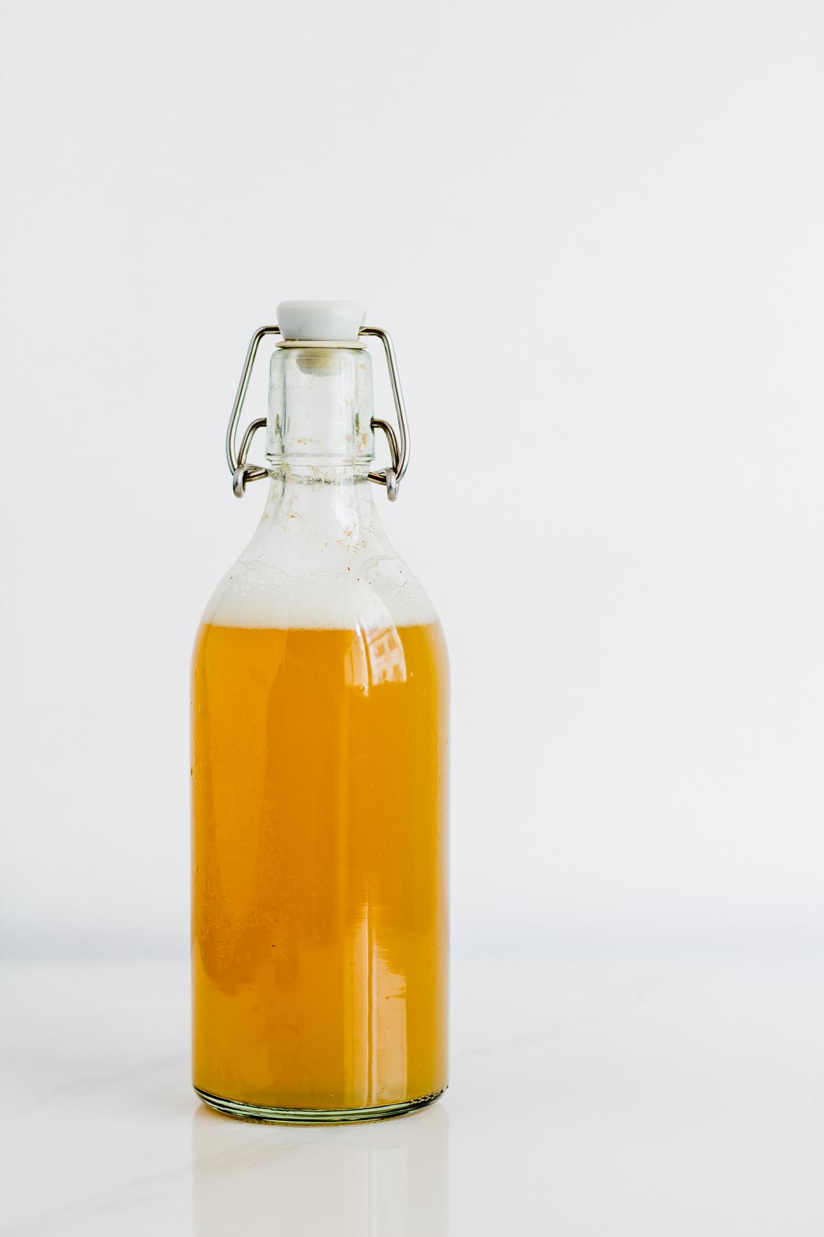 bottled fermented pineapple drink