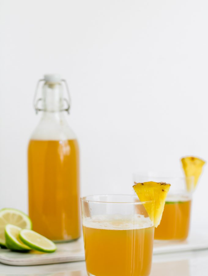 tepache - fermented pineapple soda