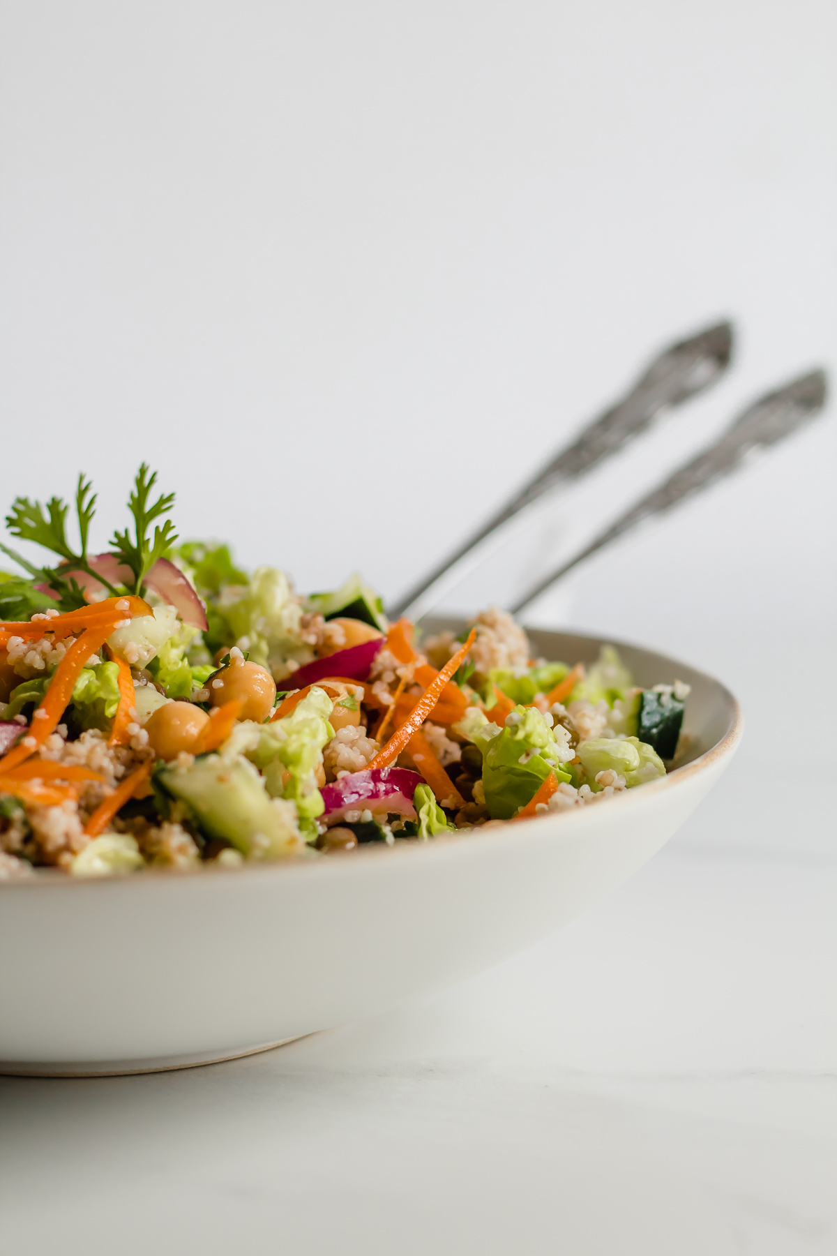 moroccan couscous salad in a bowl