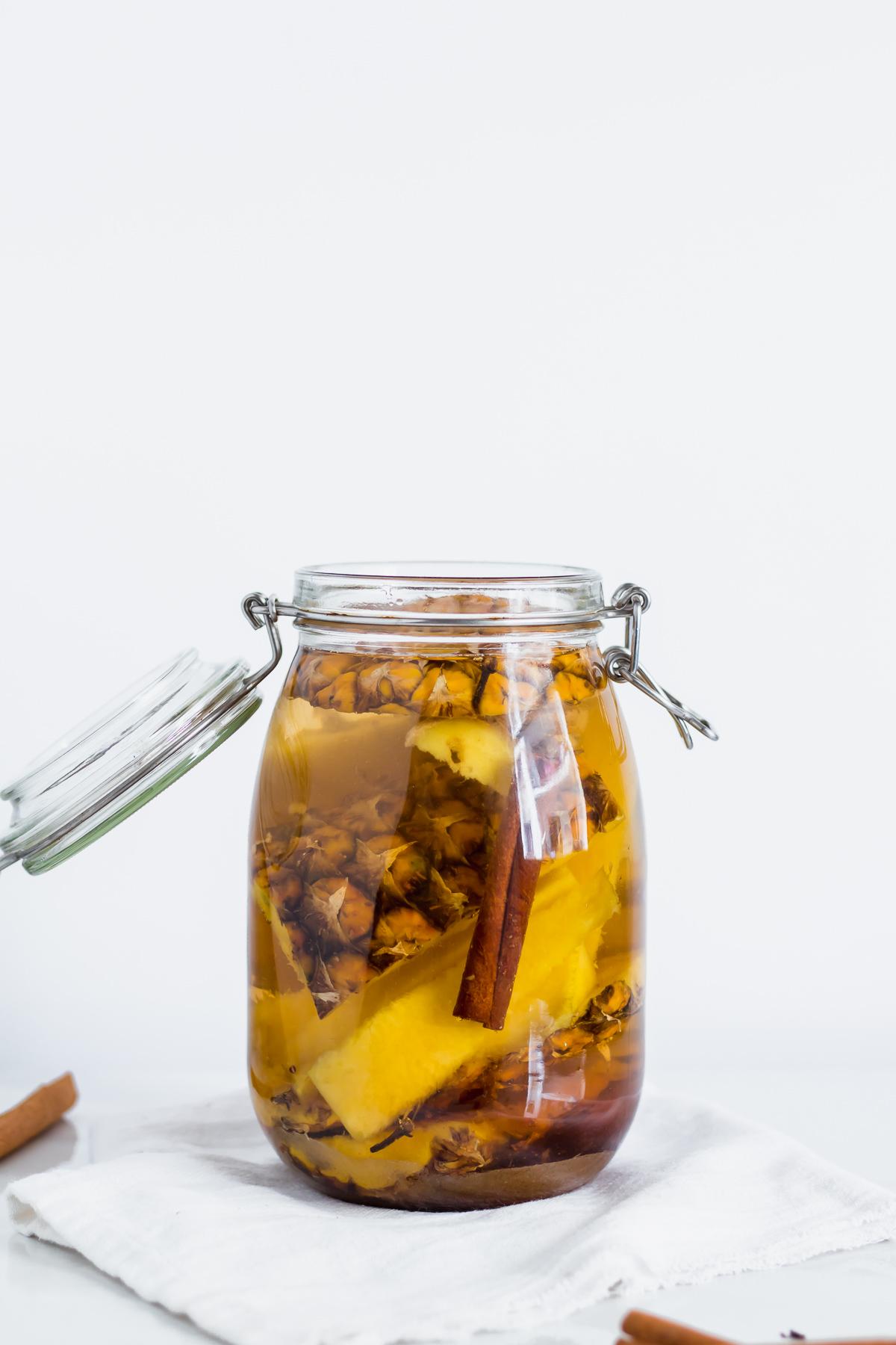 tepache in a glass jar